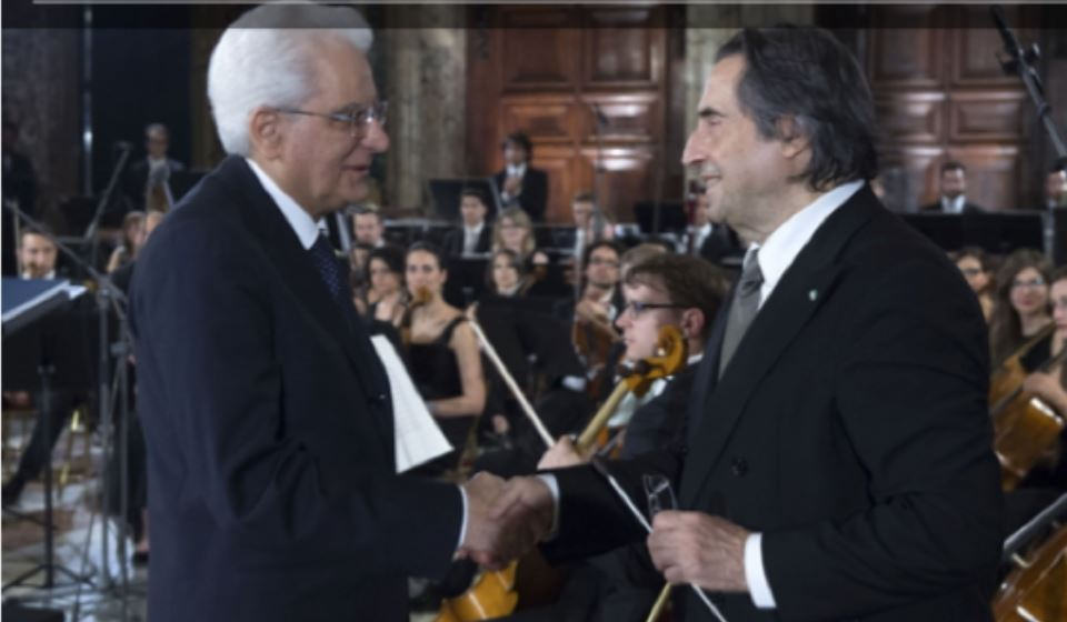 """Il """"Concerto per Dante"""" di Riccardo Muti al Quirinale"""