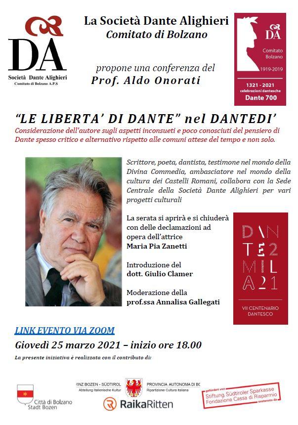 """""""LE LIBERTA' DI DANTE"""" nel DANTEDI'"""