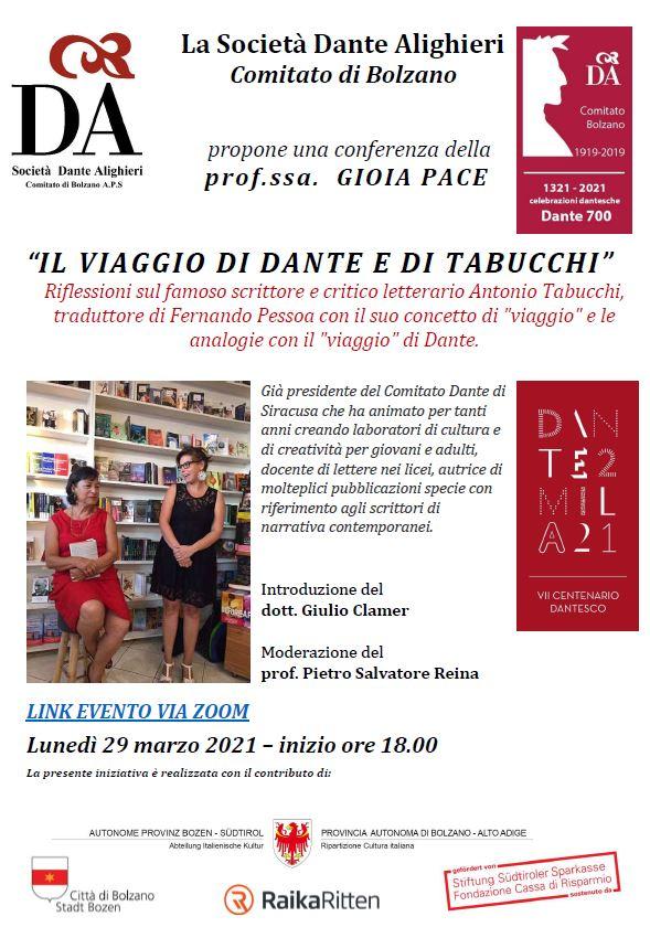 """""""IL VIAGGIO DI DANTE E DI TABUCCHI"""""""