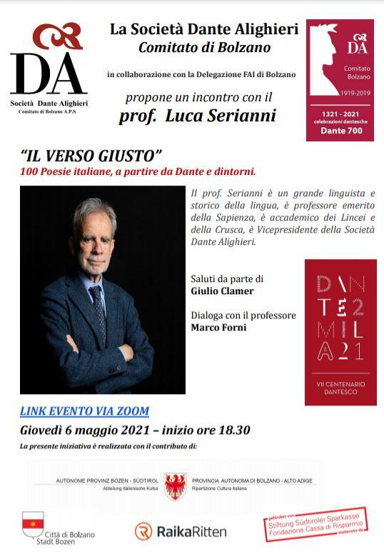 """""""IL VERSO GIUSTO"""" – 100 poesie italiane, a partire da Dante e dintorni"""